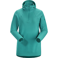 Arcteryx RHO LT HOODED ZIP NECK WOMENS ILLUSION