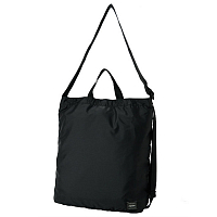 PORTER YOSHIDA FLEX 2WAY SHOULDER BAG BLACK