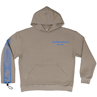 LIARS COLLECTIVE HOODIE ART–LIFE Ochre-Grey