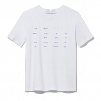 PROENZA SCHOULER WHITE LABLE SHORT SLEEVE TEE WHITE/TRUE BLUE TEXT