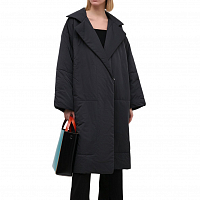 Proenza Schouler White Label Matte Puffer Long Coat BLACK