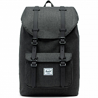 Herschel Little America Mid-Volume Black Crosshatch/Black