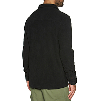 Billabong TRACK FLEECE SHIRT BLACK