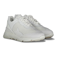 Paul & Shark LEATHER SHOES WITH ICONIC SHARK STITCHED White