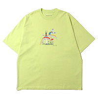 MARTINE ROSE Brittle T-shirt GREEN CARTOON