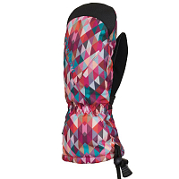 686 YOUTH HEAT INSULATED MITT CORAL KALEIDOSCOPE
