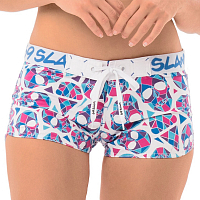 69slam SOPHIA BOARDSHORT SKULLMOND WHITE