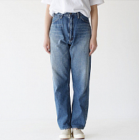 orSlow High Waist Denim Pants Jasmin 2 YEAR WASH