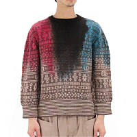 Noma t.d. NTING JACQUARD SWEATER BROWN