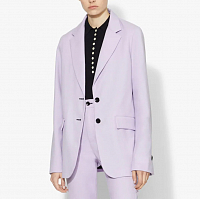 PROENZA SCHOULER WHITE LABLE SUITING UNCONSTRUCTED BLAZER Lilac