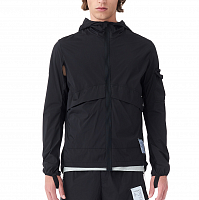 SATISFY PACKABLE WINDBREAKER BLACK SILK