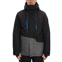 686 MNS GEO INSULATED JACKET BLACK COLORBLOCK