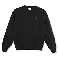 POLAR SKATE CO Patch Crewneck BLACK