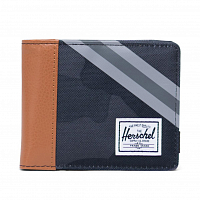 Herschel ROY Rfid NIGHT CAMO/SYNTHETIC LEATHER STRIPE GREY/BLACK