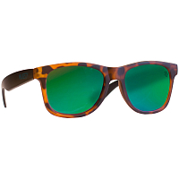 Majesty L+ tortoise/black with green mirror lenses