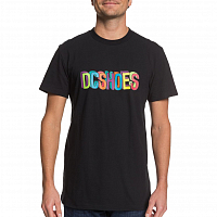 DC COLOR BLOCKS SS M TEES BLACK