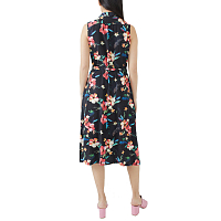 ENGINEERED GARMENTS CLASSIC DRESS BLACK TROPICAL FLORAL PRINT RAYON