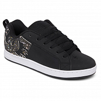 DC COURT GRAFFIK J SHOE BLACK/SPLATTER
