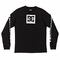 DC SQUARE STAR LS BOY B TEES BLACK