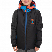 686 BOYS FOREST INSULATED JACKET BLACK COLORBLOCK