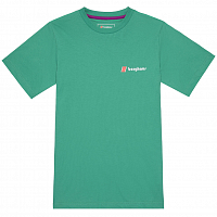 BERGHAUS HERITAGE FRONT AND BACK LOGO TEE GUMDROP GREEN
