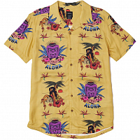 RVCA DMOTE TIKI SS GOLDEN YELLOW