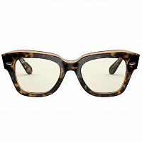 Ray Ban State Street HAVANA ON TRASPARENT LIGHT BROWN/GREY BLUE