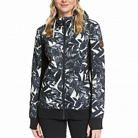 Roxy FROST PRINTED J OTLR OYSTER GRAY HAWAIIAN PALM LEAF