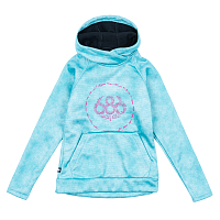 686 GIRLS BONDED PULLOVER HOODY LAGOON BLUE WASH
