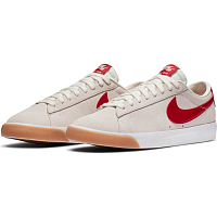 Nike SB ZOOM BLAZER LOW GT SAIL/CARDINAL RED-WHITE-GUM LIGHT BROWN