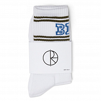 POLAR SKATE CO BIG BOY Socks WHITE / ARMY / BLUE