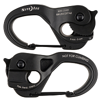Nite Ize CAMJAM XT ALUMINUM ROPE TIGHTENER LARGE BLACK