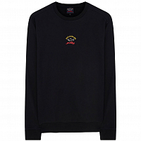 PAUL AND SHARK CHEST LOGO CREW SWEAT BLACK
