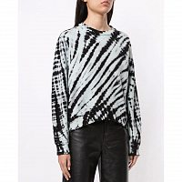 Proenza Schouler White Label TIE DYE Sweatshirt CHAMBRAY/BLACK