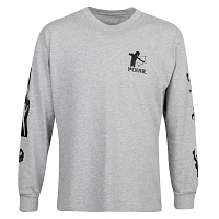 POLAR SKATE CO GNARHAMMER LONGSLEEVE SPORTS GREY