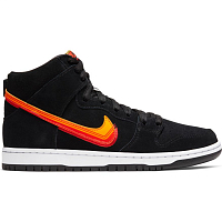Nike SB DUNK HIGH PRO BLACK/UNIVERSITY GOLD-TEAM ORANGE