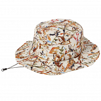 And Wander REVERSIBLE PRINTED HAT BEIGE