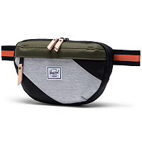 Herschel NINETEEN BLACK/IVY GREEN/LIGHT GREY CROSSHATCH