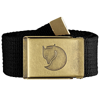 Fjallraven CANVAS BRASS BELT 4 CM BLACK