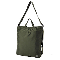 PORTER YOSHIDA FLEX 2WAY SHOULDER BAG Olive Drab