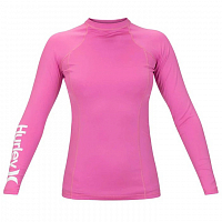 Hurley W ONE & ONLY RASHGUARD L/S CHINA ROSE/WHITE