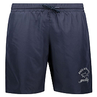 PAUL AND SHARK SWIMMING SHORTS IN PAUL&SHARK LOGO PRINT BLUE